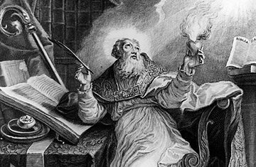 Augustine asks God whether to burn his books.
