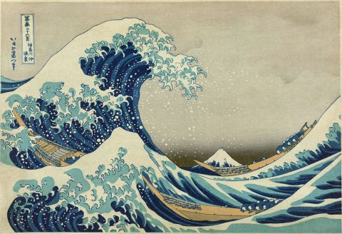 Hokusai's Great Wave off Kanagawa; or, a more pleasing wave