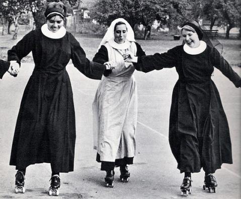 Nuns literally live in chiaroscuro.